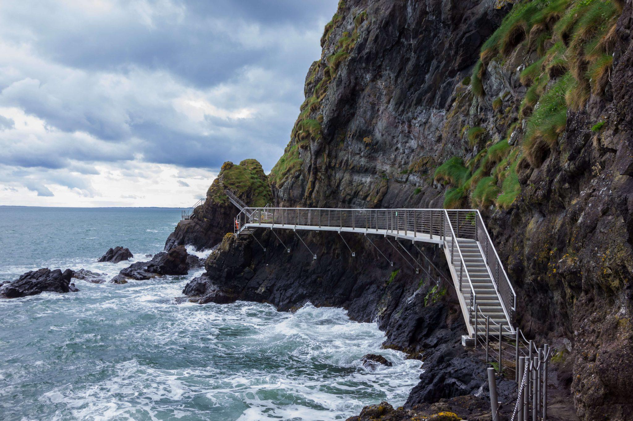 The Gobbins Cliff Path, County Antrim, Northern Ireland.