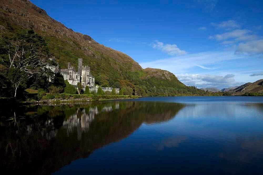 Kylemore Abbey, Connemara, County Galway, Ireland.