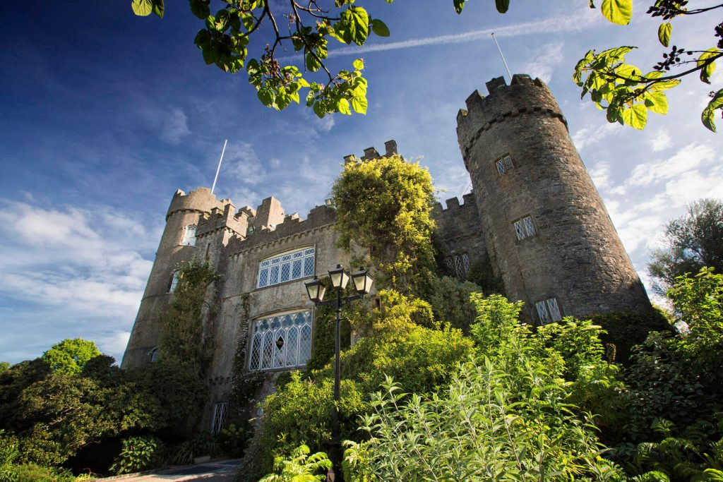 Malahide Castle on the outskirts of Dublin, Ireland.