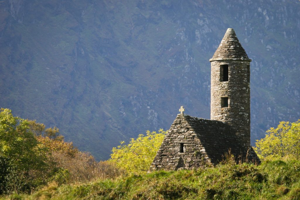 St.Kevin's Church, Glendalough, County Wicklow, Ireland.