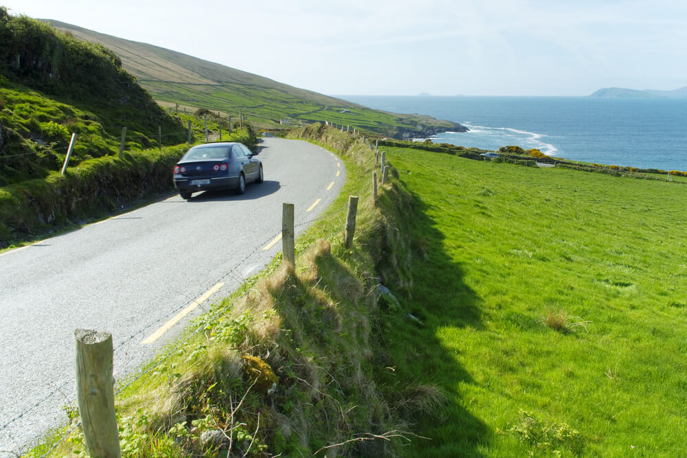 Road trip in Ireland with a car