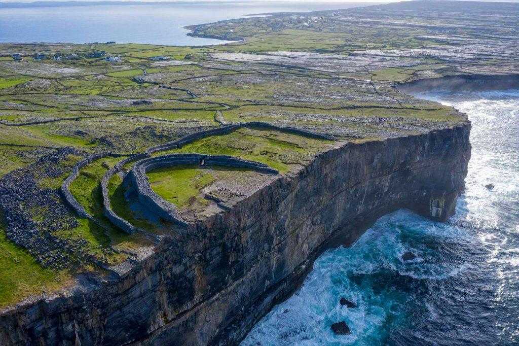 Dún Aonghasa on Inis Mór, County Galway, Ireland.