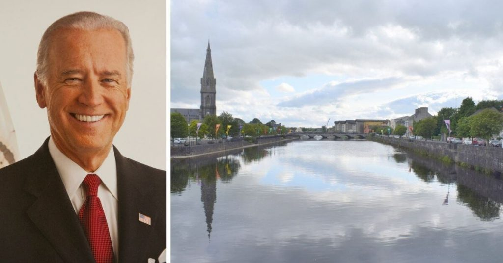 Joe Biden and his ancestral home of Ballina, County Mayo, Ireland