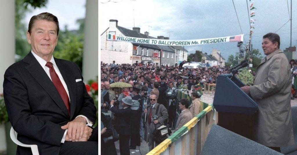 Ronald Reagan in Ballyporeen in County Tipperary.