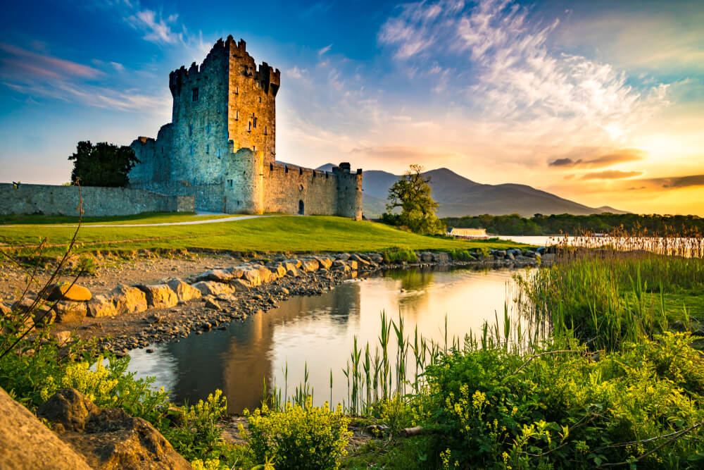 Ross Castle, Killarney National Park, County Kerry, Ireland.