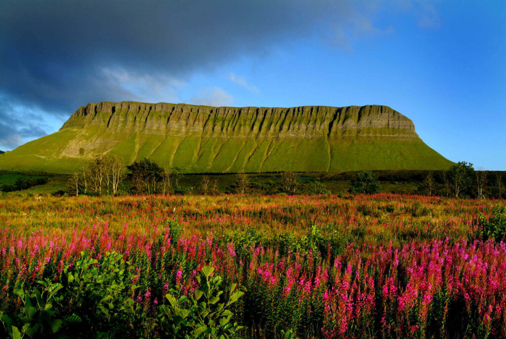 Benbulben Mountain in Sligo, Ireland