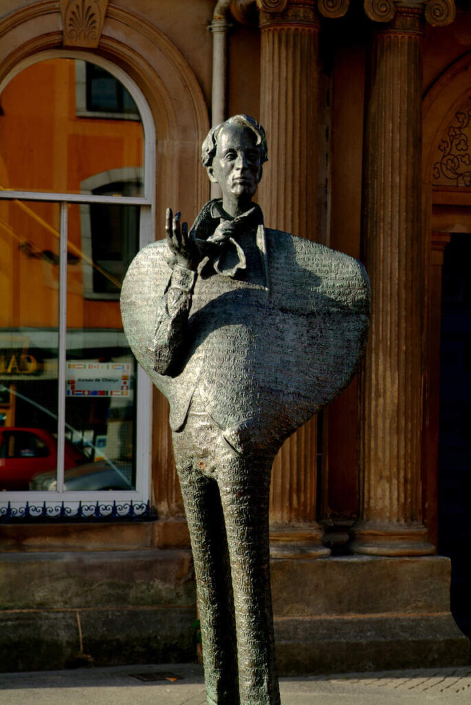 W.B. Yeats statue in Sligo Town.
